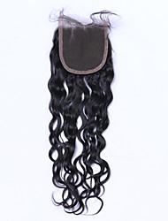 abordables -Cheveux Brésiliens 4x4 Fermeture Ondulation Lâche Partie gratuite / Moyen Partie / 3 Partie Dentelle Suisse Cheveux humains
