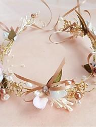 cheap -Chiffon Imitation Pearl Alloy Flowers Wreaths 1 Wedding Special Occasion Headpiece