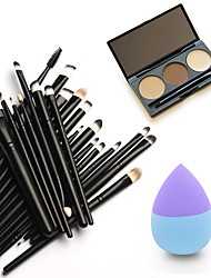 cheap -1 Eyebrow Powder Puff Makeup Brushes Dry Eye Face Liquid Cream Powder Lip Other China