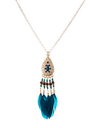 cheap -Women's Animal Unique Design Dangling Style Bohemian Cute Style Handmade Movie Jewelry Pendant Necklace Jewelry Feather Pendant Necklace ,