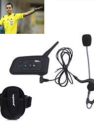 cheap -1PCS Football Referee Intercom Headset Vnetphone V4C 1200M Full Duplex Bluetooth Interphone with FM for 4 Users Referee Interphone