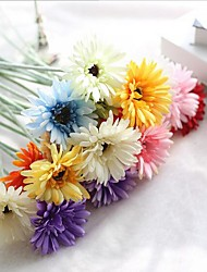 cheap -10 Heads Silk Daisies Tabletop Flower Artificial Flowers Home Decoration