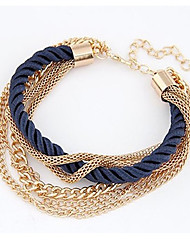 Femme Bracelets Naturel Amitié Mode Vintage Bohême Fait à la main Nylon Alliage Forme Ronde Bijoux PourAnniversaire Sports Regalos de
