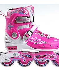 baratos -Patins em Linha Crianças Ajustável, Luzes LED, Anti-desgaste Azul, Rosa Patinação no Gelo / Andar de patins