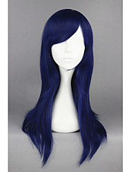 cheap -Synthetic Wig / Cosplay & Costume Wigs Straight Synthetic Hair Blue Wig Women's Medium Length Capless