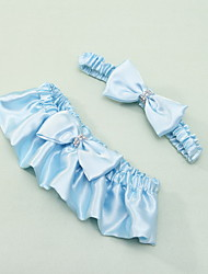 cheap -Satin Wedding Garter with Bowknot Wedding AccessoriesClassic Elegant Style