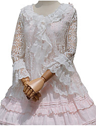 cheap -Sweet Lolita Dress Princess Lace Blouse/Shirt Cosplay White Long Sleeves