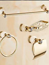 Недорогие -Набор аксессуаров для ванной Современный Латунь Крепится к стене
