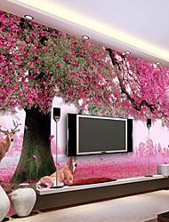 Floral Árvores/Folhas Papel de Parede Para Casa Regional Revestimento de paredes , Tela Material adesivo necessário papel de parede ,
