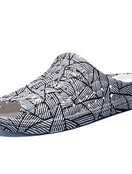 economico -Da uomo-Pantofole e infradito-Casual-Comoda-Piatto-PU (Poliuretano)-Bianco/nero Azzurro chiaro Black / Blue Schermo a colori