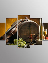 Stretched Canvas Print Food Modern,Five Panels Canvas Any Shape Print Wall Decor For Home Decoration