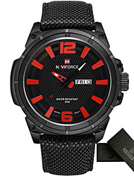 Men's Men Sport Watch Military Watch Dress Watch Fashion Watch Casual Watch Wrist watch Japanese Quartz Calendar Punk Fabric Nylon Band