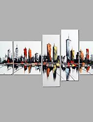 Ручная роспись Люди Горизонтальная,Modern 5 панелей Холст Hang-роспись маслом For Украшение дома