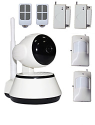 WIFI HD PTZ IP Camera 720P Night Vision SD Card IPcam Kamera With House Security Wireless Alarm System