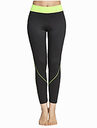 Women's Running Pants Breathable Soft Comfortable Tights Bottoms for Yoga Exercise & Fitness Leisure Sports Running Polyester Tight S M L