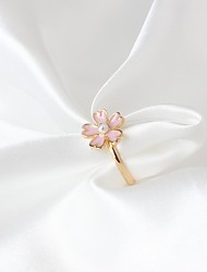 cheap -Ring Fashion Alloy Flower Light Pink Jewelry For Party Daily 1 piece