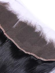 Недорогие -Прямой Классика 4X13 Закрытие Швейцарское кружево Натуральные волосы Бесплатный Часть Средняя часть 3 Часть Высокое качество Повседневные