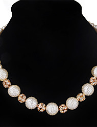 cheap -Women's Choker Necklace / Collar Necklace  -  Imitation Pearl Luxury, Simple Style, Fashion Gold Necklace For Christmas Gifts, Wedding, Party / Special Occasion / Anniversary / Birthday / Thank You