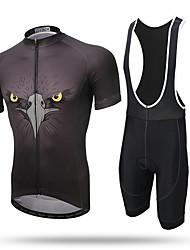 Xintown® ørn åndbar cykel cykling kortærmet tøj sæt jersey og bib kort