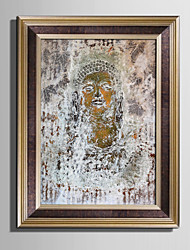 cheap -E-HOME® Framed Canvas Art Mottled Statues Of Buddha Framed Canvas Print One Pcs
