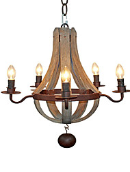 Pendant Light ,  Rustic/Lodge Retro Painting Feature for Mini Style Designers MetalLiving Room Bedroom Dining Room Study Room/Office