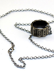 Inspired by Assassin Templar Order Anime/ Video Games Cosplay Accessories Ring Necklace Silver Alloy I.D 19MM