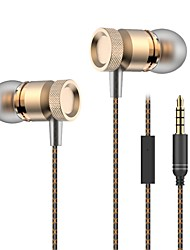 cheap -Metal Bass Earphones 3.5mm In Ear Earphone Stereo Earphones DJ HIFI Bass Headset for Samsung iPhone Xiaomi