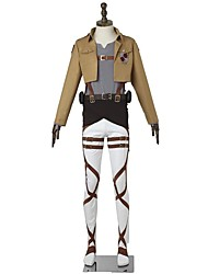 economico -Ispirato da Attack on Titan Mikasa Ackermann Anime Costumi Cosplay Abiti Cosplay Di tendenza Manica lunga Per Uomo Donna