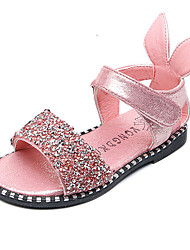 Girls' Shoes Leatherette Spring Summer Comfort Flower Girl Shoes Sandals Rhinestone Magic Tape For Casual Party & Evening Dress Black