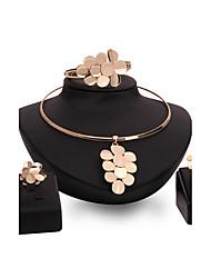 Women's Jewelry Set Rhinestone Synthetic Ruby Statement Jewelry Fashion Vintage Personalized Euramerican Luxury Synthetic Gemstones