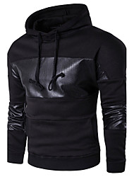 cheap -Men's Long Sleeves Hoodie - Solid Colored Color Block Hooded