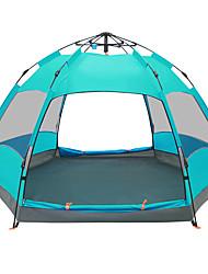 Недорогие -TANXIANZHE® 5-8 человек Световой тент Двойная Палатка Однокомнатная Автоматический тент Влагонепроницаемый Водонепроницаемость