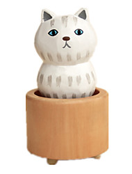 cheap -Music Box Toys Cat Wood Rubber Pieces Unisex Gift