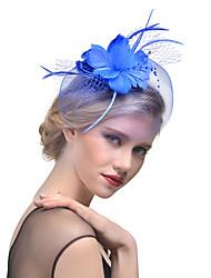 cheap -Women's Hat Solid Color Mesh Elegant Fashion Pearl Hair Clip