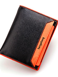 cheap -Men Bags PU Wallet Rivet for Casual Formal Outdoor Office & Career All Seasons Orange Yellow Navy Blue Green