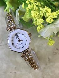 Недорогие -Жен. Часы-браслет Имитационная Четырехугольник Часы Модные часы Наручные часы Китайский Кварцевый / Имитация Алмазный сплав Группа На
