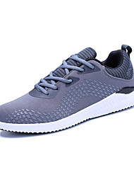 cheap -Men's Shoes PU Canvas Summer Fall Comfort Light Soles Athletic Shoes Track & Field Shoes For Athletic Casual Outdoor Black Gray Khaki