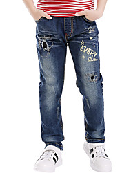 Boys' Fashion Blue Pants Full Jeans (3-10 Years Old)