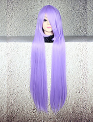 Parrucche Cosplay Cosplay Cosplay Lungo Dritto Anime Parrucche Cosplay 80 CM Tessuno resistente a calore