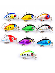 cheap -10 pcs Hard Bait Crank Fishing Lures Lure Packs Crank Hard Bait Hard Plastic Plastic Bait Casting Lure Fishing