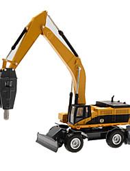 preiswerte -Spielzeug-Autos Modellauto Baustellenfahrzeuge Bulldozer Aushubmaschine Spielzeuge Simulation Aushebemaschinen Metalllegierung Metal