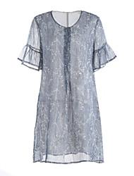 billige -Dame A-linje Kjole - Ensfarvet, Kunstnerisk Stil Klassisk Stil Over knæet