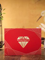 Format Enveloppe & Poche Invitations de mariage Enveloppe Autocollant d'enveloppe Programme Fan Menu de mariage Cartes d'invitation Merci