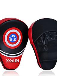 abordables -Mitaines de Boxe Pour Boxe Poids d'Entrainement Cuir Bleu / Noir / Rouge