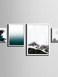 cheap -E-HOME® Framed Canvas Art   Simple Natural Scenery And Plant Series (1) Theme Series Framed Canvas Print One Pcs