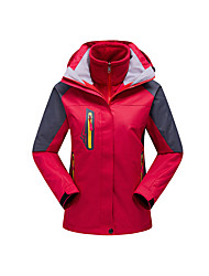 cheap -Women's Hiking 3-in-1 Jackets Outdoor Winter Waterproof Thermal / Warm Windproof Fleece Lining Rain-Proof Wearable Breathable Snowproof