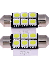 cheap -ZIQIAO White 36mm 5050 6 SMD LED C5W Car Led Auto Interior Dome Door Light Bulb Pathway lighting Work Lamp (12V/2PCS)