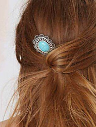 cheap -Women's Gem Alloy Hair Clip, Party Jewelry Vintage Silver