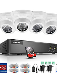 cheap -ANNKE® 4CH 4PCS TVI 720P HD Video Monitor 4in1 DVR P2P TVI Outdoor Indoor Camera Weatherproof Surveillance System 1TB