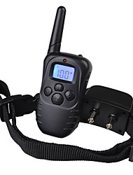 cheap -Dog Bark Collar Dog Training Collars Anti Bark Rechargeable Remote Control Shock/Vibration LCD Display 300M Solid Plastic Nylon Black